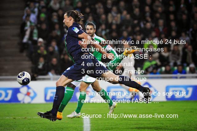 Zlatan et ses buts contre l'ASSE