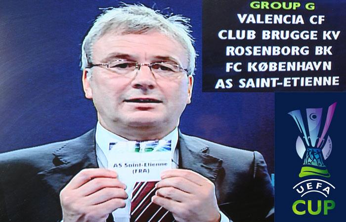 Coupe UEFA, L'image historique du tirage au sort de l'ASSE