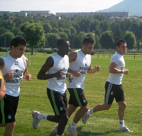Stage Aix-les-Bains de l'ASSE : photo de l'entraînement